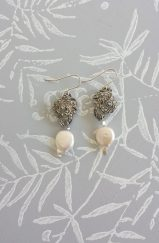 Kye Tew Jewellery - Marcasite & Pearl Earrings